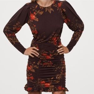 H&M Floral Fitted Dress